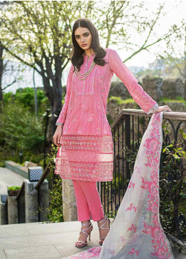 Gul Ahmed Embroidered Cotton Unstitched 3 Piece Suit GAG19F EA-67 - Festive Collection