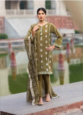 Gul Ahmed Embroidered Cotton Unstitched 3 Piece Suit GAG19F EA-83 - Festive Collection