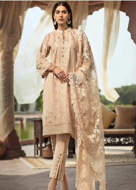 Gul Ahmed Embroidered Cotton Unstitched 3 Piece Suit GAG19F EA-86 - Festive Collection