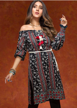 Gul Ahmed Printed Cotton Unstitched Kurties GAG19W SK-61 - Winter Collection