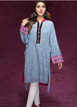Gul Ahmed Printed Cotton Unstitched Kurties GAG19W SK-63 - Winter Collection