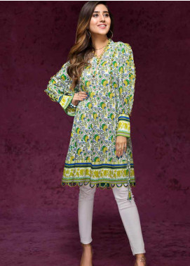 Gul Ahmed Printed Cotton Unstitched Kurties GAG19W SK-64 - Winter Collection
