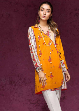 Gul Ahmed Printed Cotton Unstitched Kurties GAG19W SK-65 A - Winter Collection