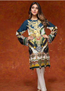 Gul Ahmed Embroidered Cotton Unstitched Kurties GAG19W SK-67 - Winter Collection