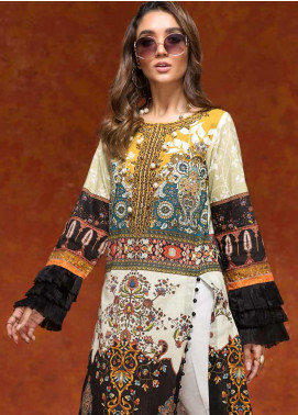 Gul Ahmed Printed Embroidered Unstitched Kurties GAG19W SK-71 - Winter Collection