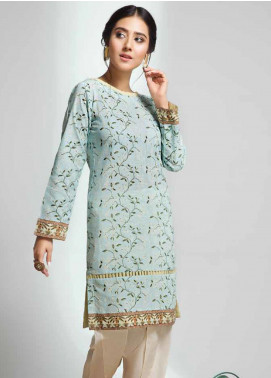 Gul Ahmed Printed Cotton Unstitched Kurties GAG19W SK-73 - Winter Collection
