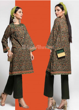 Gul Ahmed Printed Cotton Unstitched Kurties GAG19W SK-76 - Winter Collection