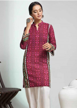 Gul Ahmed Printed Cotton Unstitched Kurties GAG19W SK-77 - Winter Collection