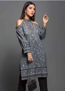 Gul Ahmed Printed Cotton Unstitched Kurties GAG19W SK-79 - Winter Collection
