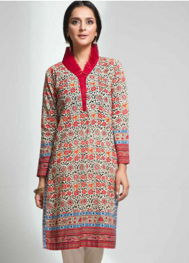 Gul Ahmed Printed Cotton Unstitched Kurties GAG19W SK-80 - Winter Collection