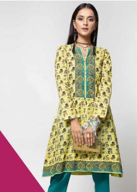 Gul Ahmed Printed Cotton Unstitched Kurties GAG19W SK-81 - Winter Collection