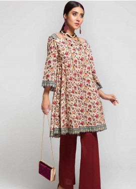 Gul Ahmed Printed Cotton Unstitched Kurties GAG19W SK-83 - Winter Collection