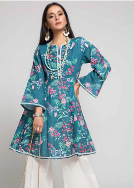 Gul Ahmed Printed Cotton Unstitched Kurties GAG19W SK-86 - Winter Collection