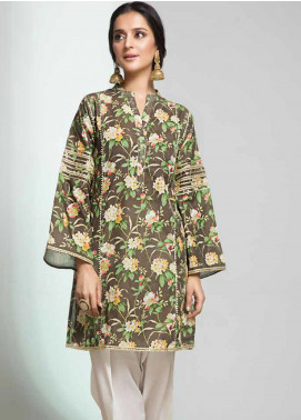 Gul Ahmed Printed Cotton Unstitched Kurties GAG19W SK-87 - Winter Collection
