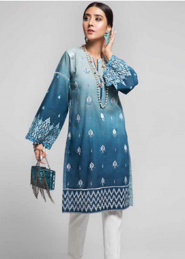 Gul Ahmed Embroidered Cotton Unstitched Kurties GAG19W SK-88 - Winter Collection
