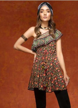 Gul Ahmed Printed Linen Unstitched Kurties GAG19W SV-16 - Winter Collection