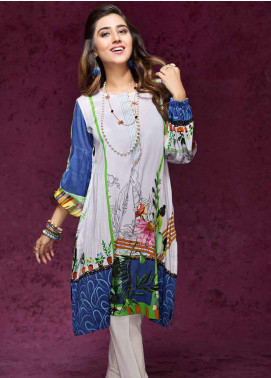 Gul Ahmed Printed Linen Unstitched Kurties GAG19W SV-17 - Winter Collection