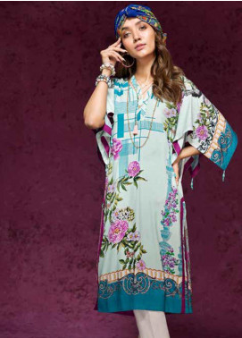 Gul Ahmed Printed Linen Unstitched Kurties GAG19W SV-18 - Winter Collection