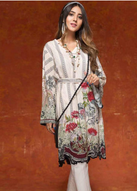 Gul Ahmed Printed Linen Unstitched Kurties GAG19W SV-20 - Winter Collection