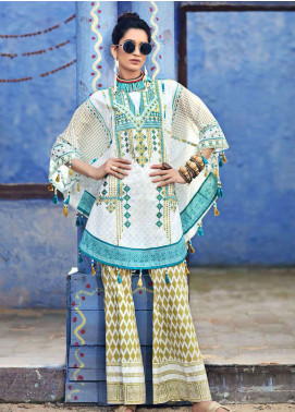 Gul Ahmed Gypsy Embroidered Cotton Unstitched 2 Piece Suit GAG19L GT-16 - Spring / Summer Collection