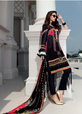 Gul Ahmed Embroidered Viscose Unstitched 2 Piece Suit GA19DL DGT 85 Flowy Basque - Winter Collection