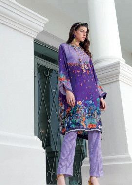Gul Ahmed Embroidered Charmeuse Silk Unstitched 2 Piece Suit GA19DL DGT 89 Classic Flaire - Winter Collection