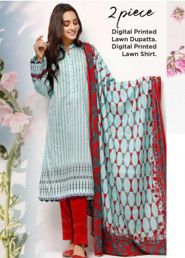 Gul Ahmed Printed Lawn Unstitched 2 Piece Suit GA20SE-5 TLP 02 A - Spring / Summer Collection