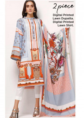 Gul Ahmed Printed Lawn Unstitched 2 Piece Suit GA20SE-5 TLP 06 A - Spring / Summer Collection