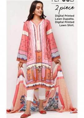 Gul Ahmed Printed Lawn Unstitched 2 Piece Suit GA20SE-5 TLP 06 B - Spring / Summer Collection