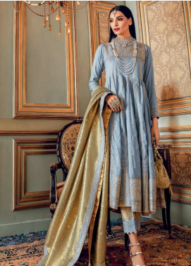 Gul Ahmed Embroidered Raw Silk Unstitched 3 Piece Suit GA20WD 04 - Wedding Collection