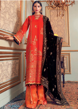 Gul Ahmed Embroidered Raw Silk Unstitched 3 Piece Suit GA20WD 06 - Wedding Collection