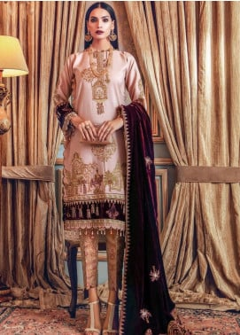 Gul Ahmed Embroidered Raw Silk Unstitched 3 Piece Suit GA20WD 07 - Wedding Collection