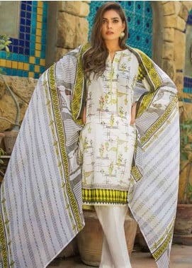Gul Ahmed Printed Lawn Unstitched 3 Piece Suit GAM19L BM-121 - Spring / Summer Collection
