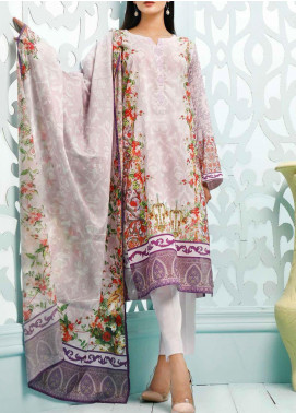 Gul Ahmed Printed Lawn Unstitched 3 Piece Suit GA20ML CLP-32 - Summer Collection