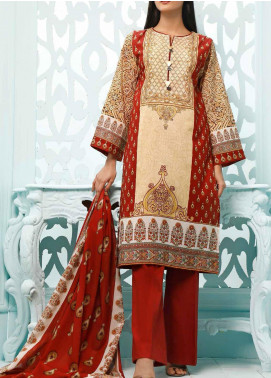Gul Ahmed Printed Lawn Unstitched 3 Piece Suit GA20ML CLP-35 - Summer Collection