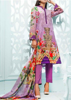Gul Ahmed Printed Lawn Unstitched 3 Piece Suit GA20ML CLP-36 - Summer Collection