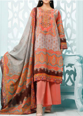Gul Ahmed Printed Lawn Unstitched 3 Piece Suit GA20ML CLP-38 - Summer Collection