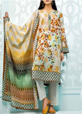Gul Ahmed Printed Lawn Unstitched 3 Piece Suit GA20ML CLP-39 - Summer Collection