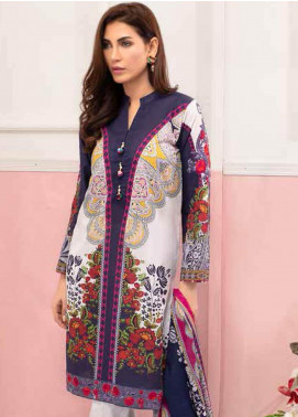Gul Ahmed Embroidered Lawn Unstitched 3 Piece Suit GAM19-L2 CL-607A - Mid Summer Collection
