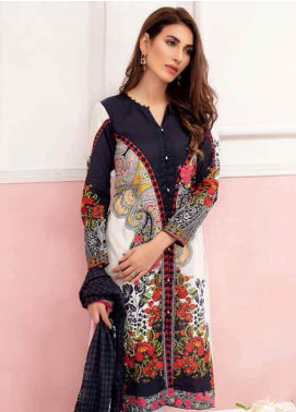 Gul Ahmed Embroidered Lawn Unstitched 3 Piece Suit GAM19-L2 CL-607B - Mid Summer Collection