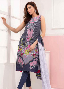 Gul Ahmed Embroidered Lawn Unstitched 3 Piece Suit GAM19-L2 CL-608A - Mid Summer Collection