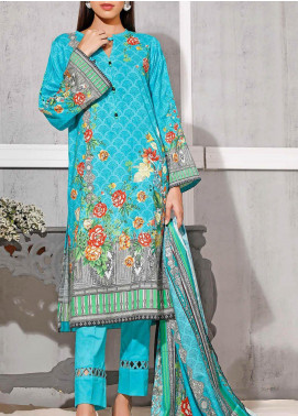 Gul Ahmed Printed Lawn Unstitched 3 Piece Suit GA20SMS CLP-55 - Summer Collection