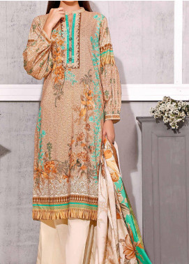 Gul Ahmed Printed Lawn Unstitched 3 Piece Suit GA20SMS CLP-56 - Summer Collection
