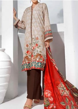 Gul Ahmed Printed Lawn Unstitched 3 Piece Suit GA20SMS CLP-58 - Summer Collection