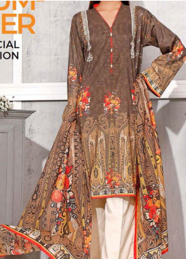 Gul Ahmed Printed Lawn Unstitched 3 Piece Suit GA20SMS CLP-61 - Summer Collection