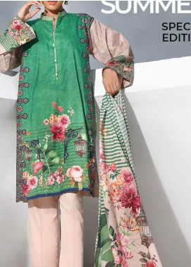 Gul Ahmed Printed Lawn Unstitched 3 Piece Suit GA20SMS CLP-65 - Summer Collection