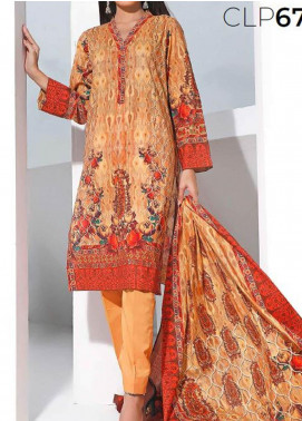 Gul Ahmed Printed Lawn Unstitched 3 Piece Suit GA20SMS CLP-67 - Summer Collection