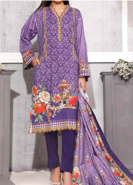 Gul Ahmed Printed Lawn Unstitched 3 Piece Suit GA20SMS CLP-70 - Summer Collection