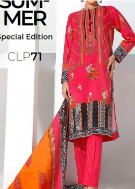 Gul Ahmed Printed Lawn Unstitched 3 Piece Suit GA20SMS CLP-71 - Summer Collection