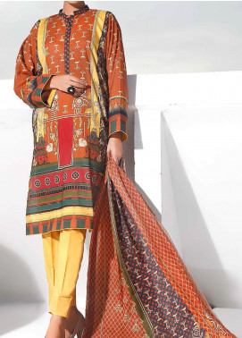 Gul Ahmed Printed Lawn Unstitched 3 Piece Suit GA20SMS CLP-72 - Summer Collection